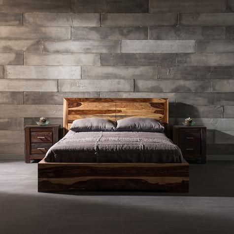 Modern and solid Rosewood Romy Bed | Artemano