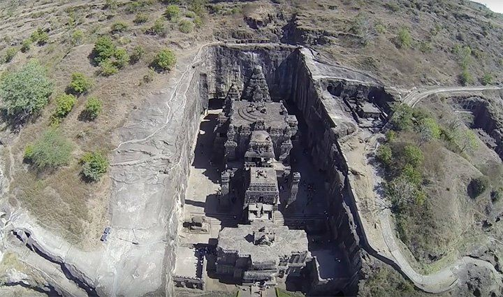 Hindu Temple Carved From Rock