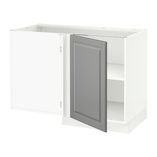 SEKTION Corner base cabinet with shelf IKEA Ideal for storing things like pots, pie pans, and dry goods.