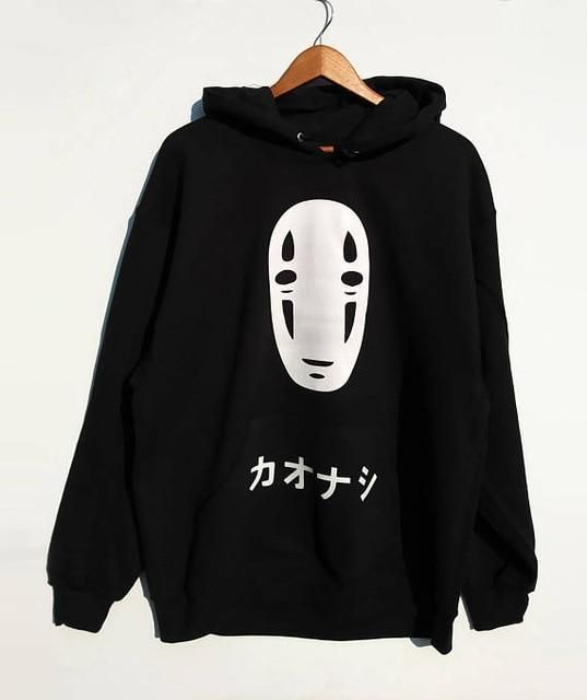No Face Men Oversized hoodie Kawaii Spirited Away Hoodie anime hirajuku  Unisex hoody black tumblr casual tops hoodie gift in 2019  51a01d8a1ee5