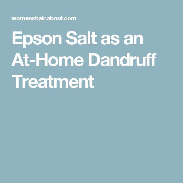 Epson Salt as an At-Home Dandruff Treatment