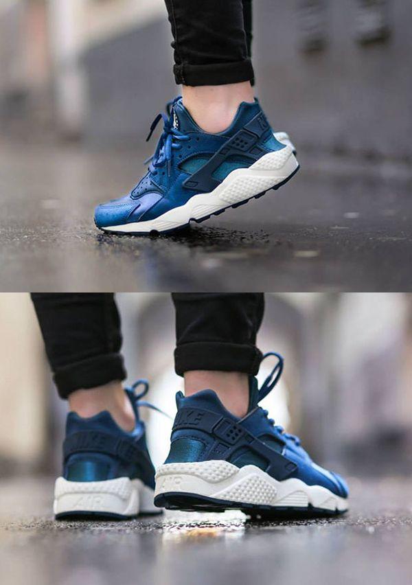 buy popular 061b1 295b2 Cheap Hot Sale Nike Air Huarache Dark Magnet Grey Volt Blue Pink