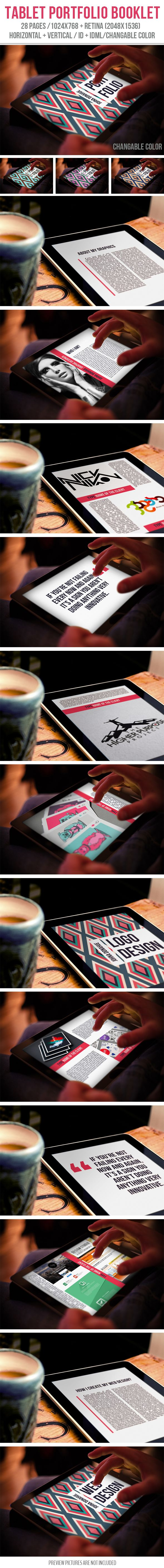 Tablet Portfolio Booklet by crew55design, via Behance