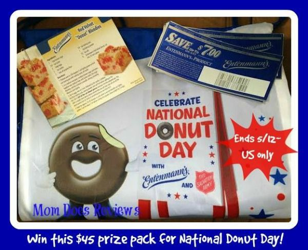 "Enter to win an Entenmann's Donut Prize Pack ($45 value)! Includes: Entenmann's Red Velvet Donut ""Blondie's"" Recipe Card, Entenmann's Red Velvet Ice Cream Recipe Card, (5) Entenmann's Freebie Coupons ($7 Value Each), and Entenmann's Reusable Drawstring Bag ($10 Value) http://kouponkrazed.com/2014/05/entenmanns-donut-prize-pack-45-value-giveaway/"