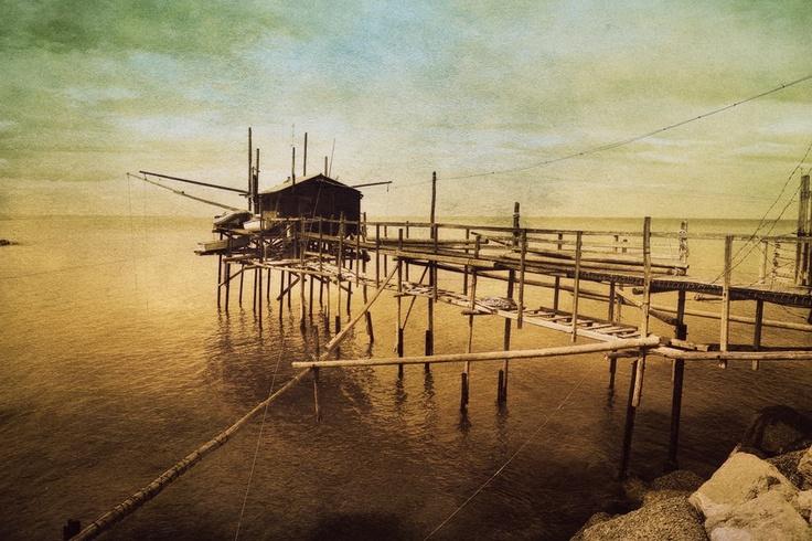 """""""Trabucco"""" by Vittorio Chiampan #trabucco #sea #mare #adriatico #molise #italy #destinazionemolise"""