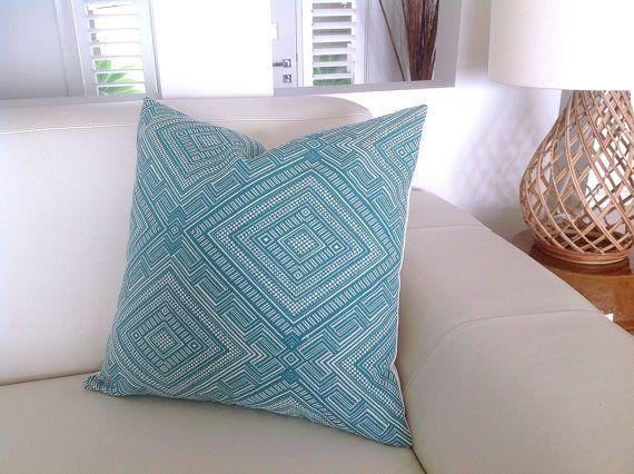 Jacquard Pillow Turquoise Cushions, Grey Pillows, Orange, Navy Blue Modern Lounge Cushions