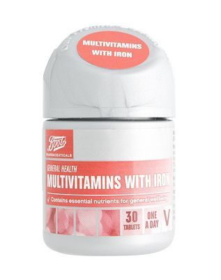 #Boots Pharmaceuticals Boots Multivitamins with Iron (30 Tablets) #8 Advantage card points. Boots Multivitamins with Iron contains essential nutrients for general wellbeing.Always read the product information before use. FREE Delivery on orders over 45 GBP. (Barcode EAN=5000167078190)
