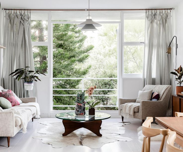Living room from Scandi-fresh beachside apartment in Sydney. Photography: Maree Homer