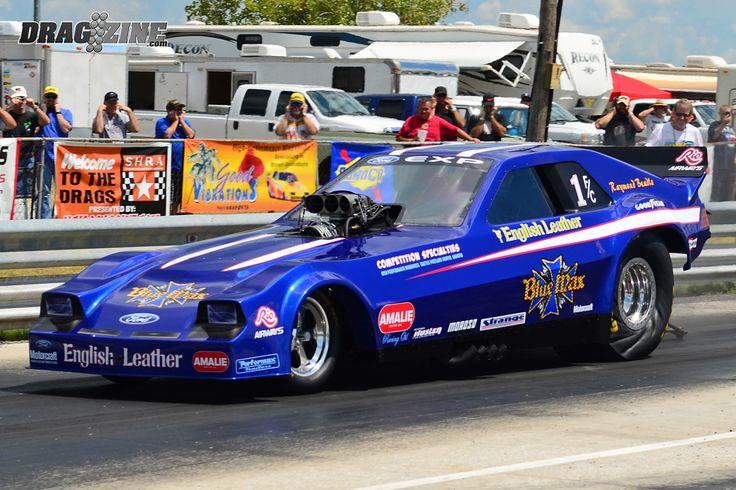 photos of blue max omni funny car | Feature: The Blue Max Ford EXP Tribute Nitro Funny Car - Dragzine