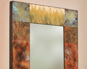 paul Rung: 48x32 Copper and Metal Mirror.