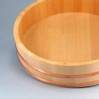 Japanese hangiri rice barrel
