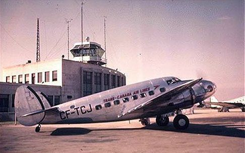 Trans Canada Airlines 14H2 passenger aircraft, circa 1938 just before my father joined TCA