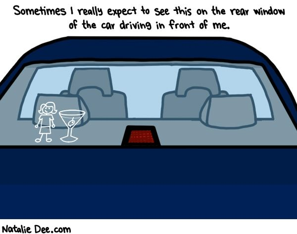 Comic by Natalie Dee: if i did see this i would find their honesty refreshingWindows Stickers, Fracking Funny, Dee Comics, Finding, Natalie Dee, Camps, Cars Stickers, Wine Glasses, Honesty Refreshing