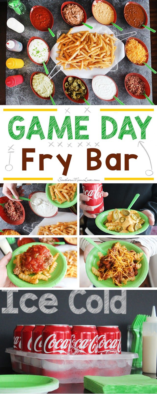 With Game Day weekends here again, it's time for some fun and delicious ideas for feeding your rowdy crowd while they watch the game. Everyone loves french fries and I had an idea for a 'Make Your Favorite' Fry Bar that was a huge success this past weekend. #DGUnitedByFootball [ad]