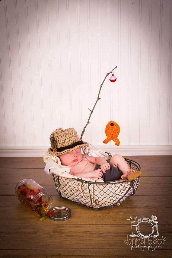 Baby Boy Angeln Hut & Fisch SET Neugeborenen 0 3m 6m häkeln Foto Prop jungen Mädchen Kleidung ADORABLE Perfe