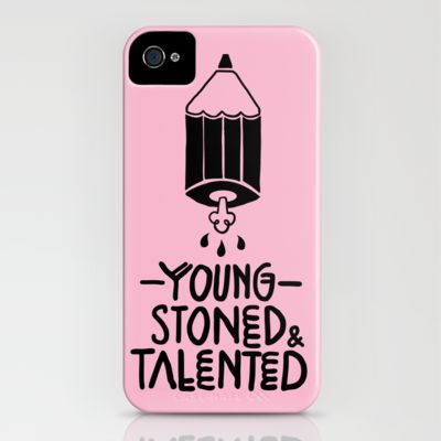 (vía Young, Stoned & Talented iPhone Case by Maruh Ruiz | Society6)