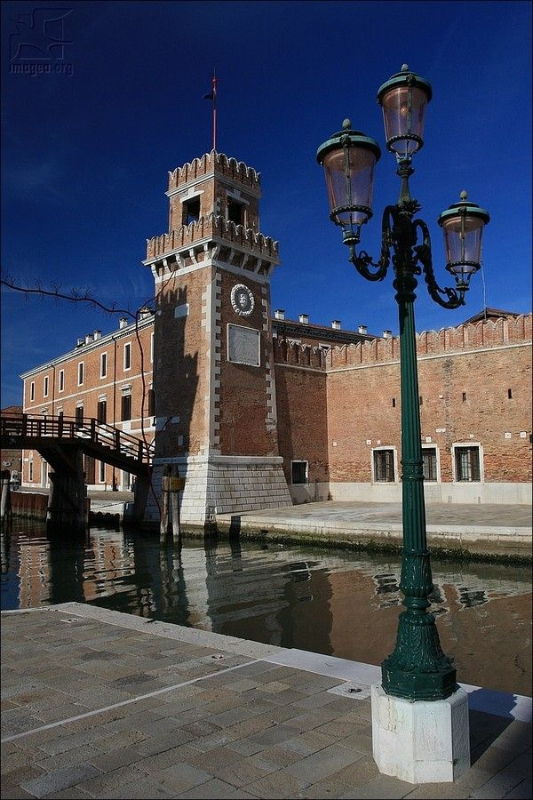 The tower of the Venetian Arsenal - The Venetian Arsenal (Italian: Arsenale di Venezia) was responsible for the bulk of Venice's naval power during the middle part of the second millennium AD. It could also be described as the first mass production complex using standardized and interchangeable parts - Castello sestiere - Venezia - Veneto - Italy