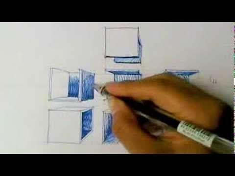 Como dibujar cubos en perspectiva