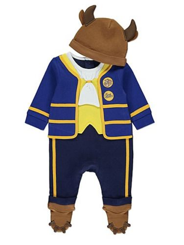 DISNEY BEAUTY AND THE BEAST Baby Boys Fancy Dress Costume All In One & Hat