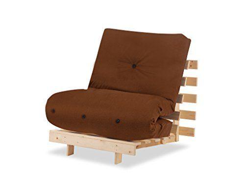Humza Amani Wood Luxury 1 Seater Metro Futon Sofa Bed Frame With Futon Mattress Set Brown Luxurybeddingred Sofa Bed Frame Furniture Bed Frame Mattress