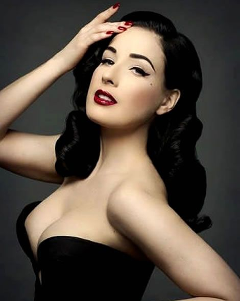 Dita Von Teese Perfect Retro Glamour Hair and Makeup - Inspiration I will never replicate unless for Costume Party.
