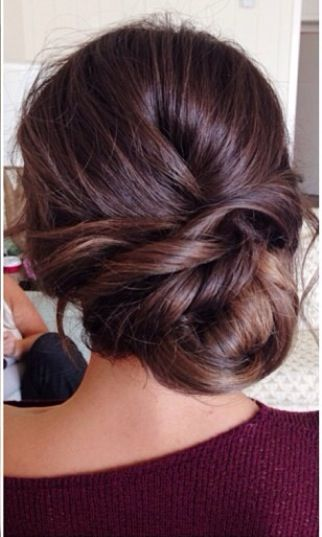 Wedding updo sidebun