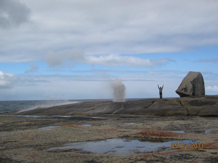 A blow hole on the east coast of Tasmania