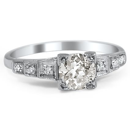emera art deco engagement ring