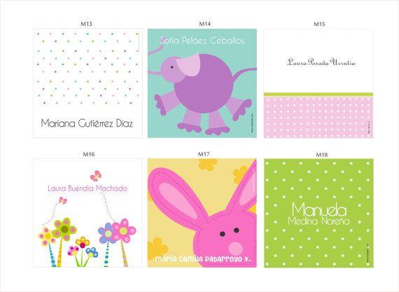 Tarjetas Personales para tus hijos con increíbles diseños y colores. Puedes elegir kits de 12, 24 y 48. Se hace un modelo por docena.    Puedes