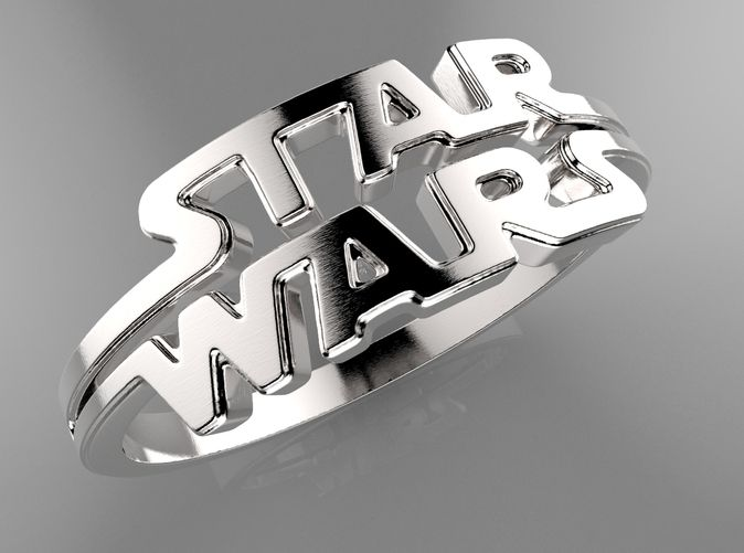 Star Wars Ring Size8 by Likesyrup @Shapeways https://www.shapeways.com/model/1613799/star-wars-ring.html?li=user-profile&materialId=54