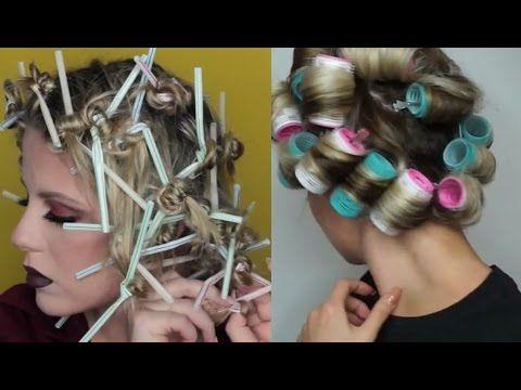 Rizos sin Calor Fácil Tutorial Compilación - Curls without Heat Compilation 2017 - YouTube