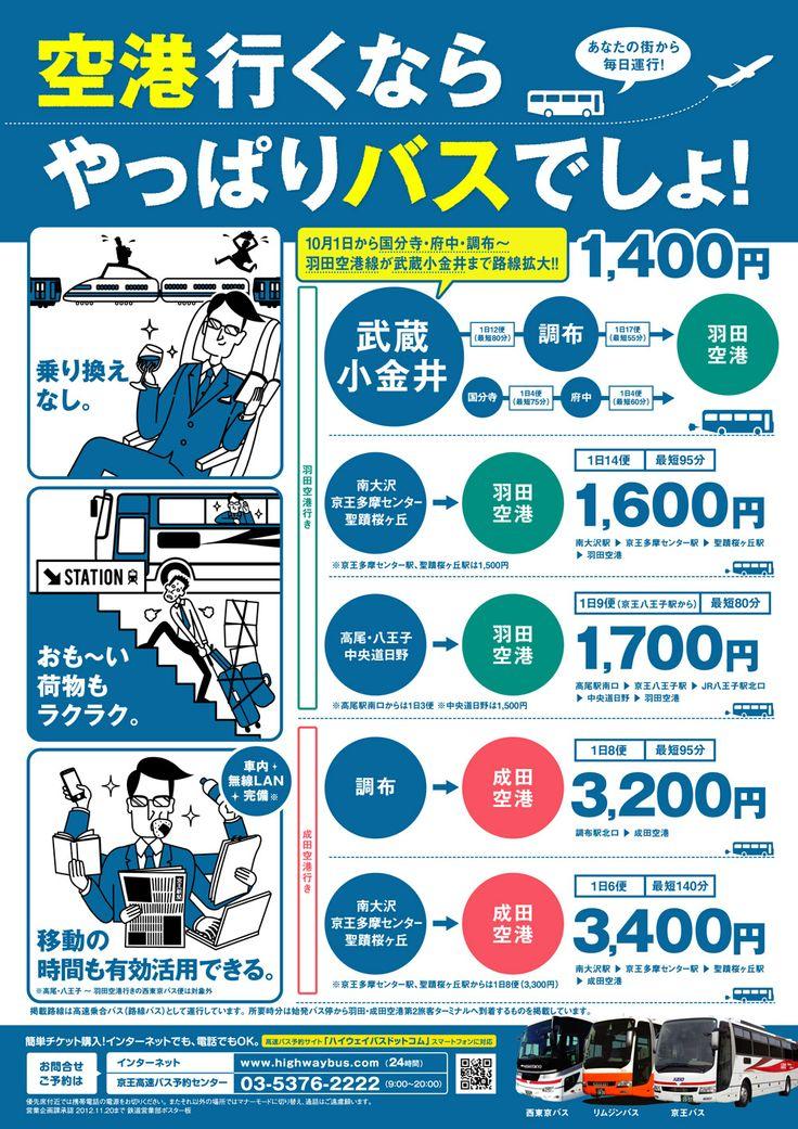 京王電鉄バス株式会社様 空港線PRポスター(ポスターデザイン制作)