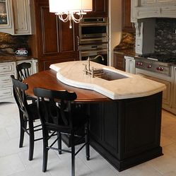 17 best images about semi circle tables on pinterest for Half island kitchen