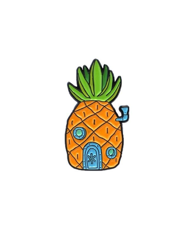 Pineapple House pin from @dejapins  Give it a home, on your lapel... Available to purchase through their link in bio!