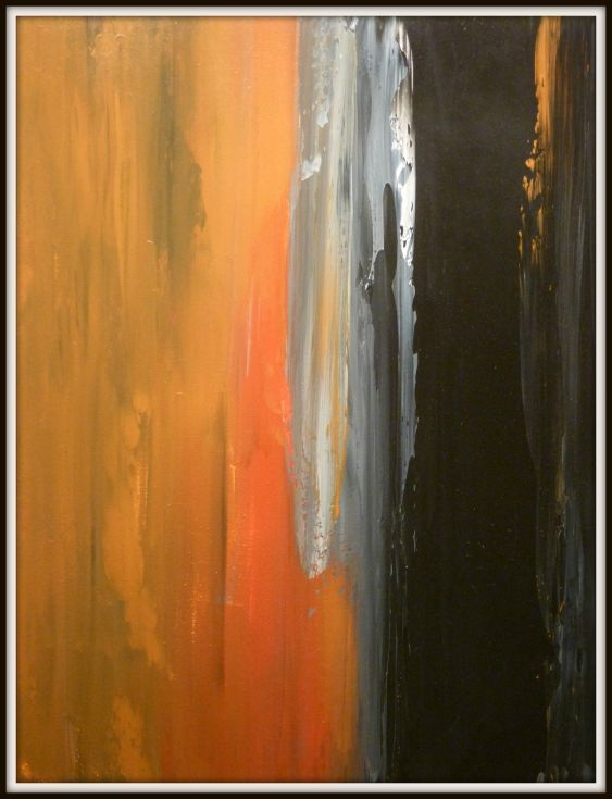 ARTFINDER: Abstract I by Robert Lynn - Acrylic painted with pallet knife