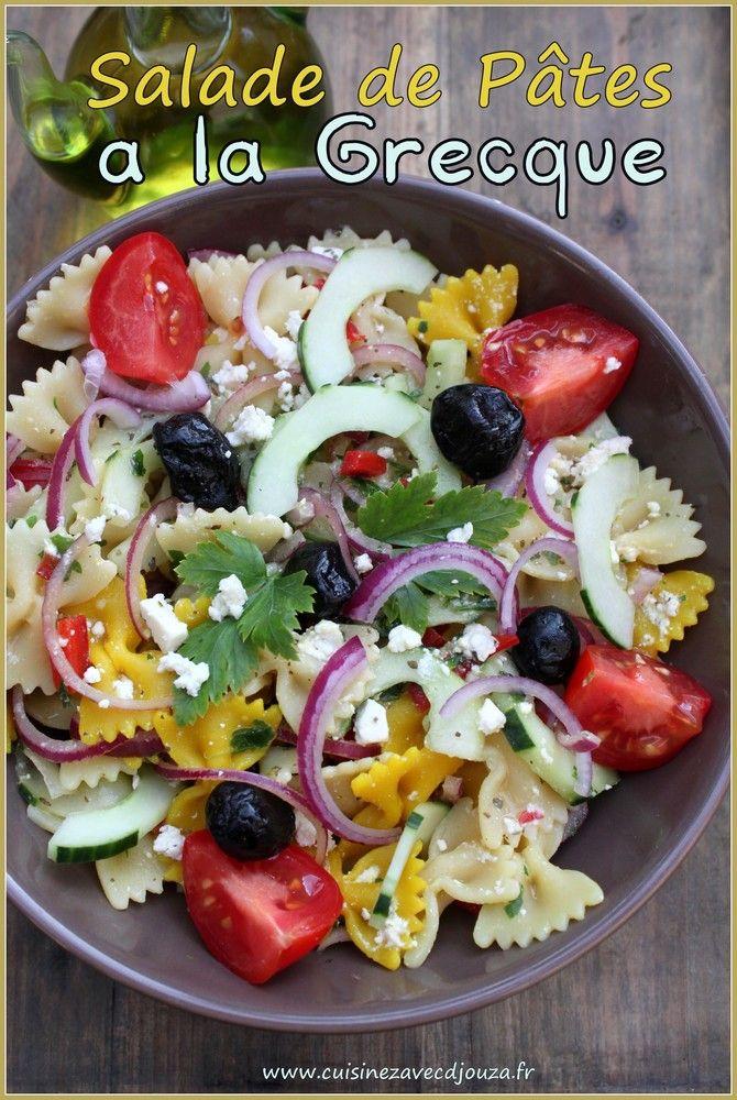 1000 id es sur le th me salades de pates grecques sur for Cuisine grecque