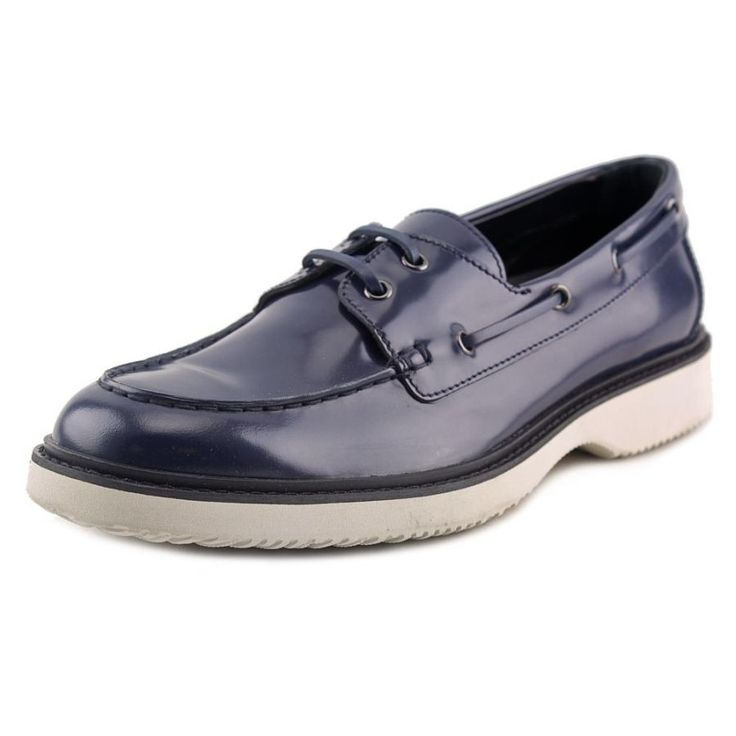 H217 Route Mod. Barca Men Leather Blue Boat Shoe