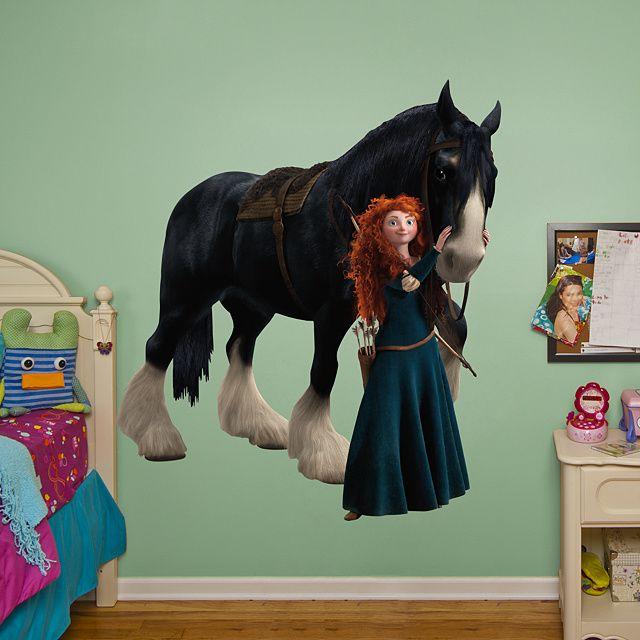 Merida and Angus REAL.BIG. Fathead – Peel & Stick Wall Graphic | Brave Wall Decal | Disney Decor | Bedroom/Playroom/Nursery