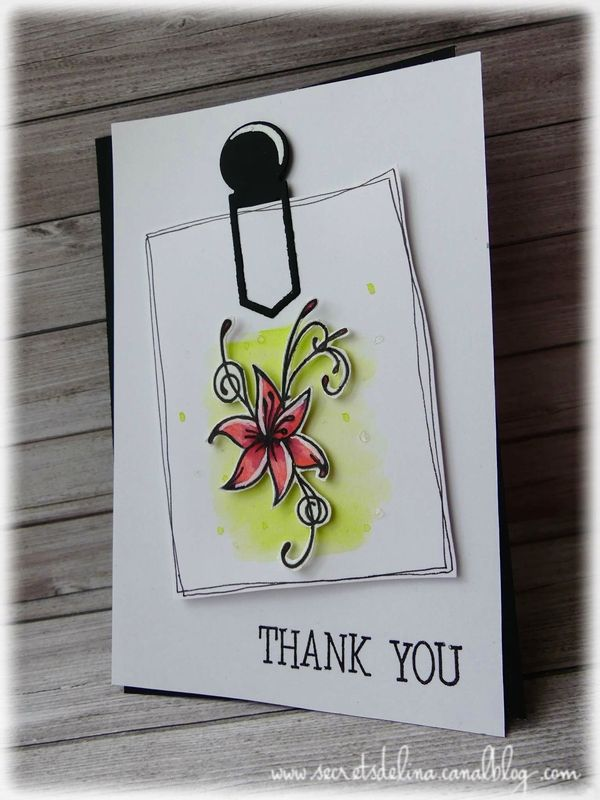 carte fleur note aquarelle #card #scrapbooking #flowers #watercolor #secretsdelina