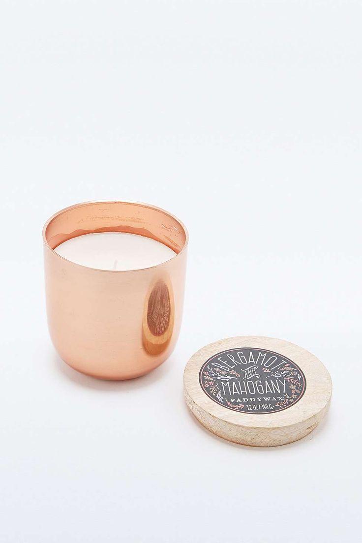 Paddywax - Bougie en pot parfum bergamote et acajou cuivre - Urban Outfitters
