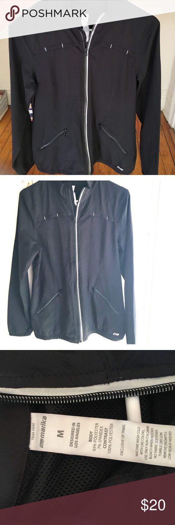 Marika jacket--perfect athleisure wear! Women's Medium in excellent condition--literally bought it from Nordstrom two weeks ago but it turned out to be too big for me!  Polyester and spandex. Lightweight. Marika Tops Sweatshirts & Hoodies