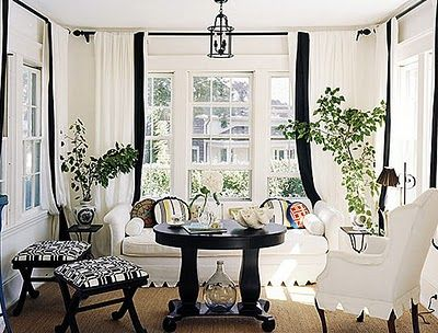 Curtains Ideas black and white panel curtains : 1000+ images about Woven Wood Shades and Drapes on Pinterest ...