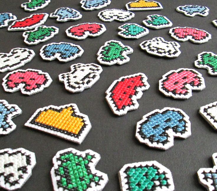 Space Invader Magnets (I currently sell a set of 7 in my shop) www.etsy.com/shop/lizkingcraft