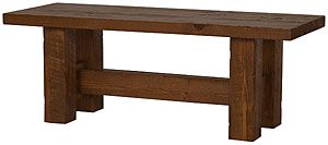 Selectively handcrafted from solid, rough-sawn pine timbers, our Barnwood Collection has a look all its own.  The square, dark brown stained pieces create a primitive and sturdy appeal that will work well with rustic and southwestern decors.  These handmade pieces will revitalize your home or cabin with a natural wood appeal!