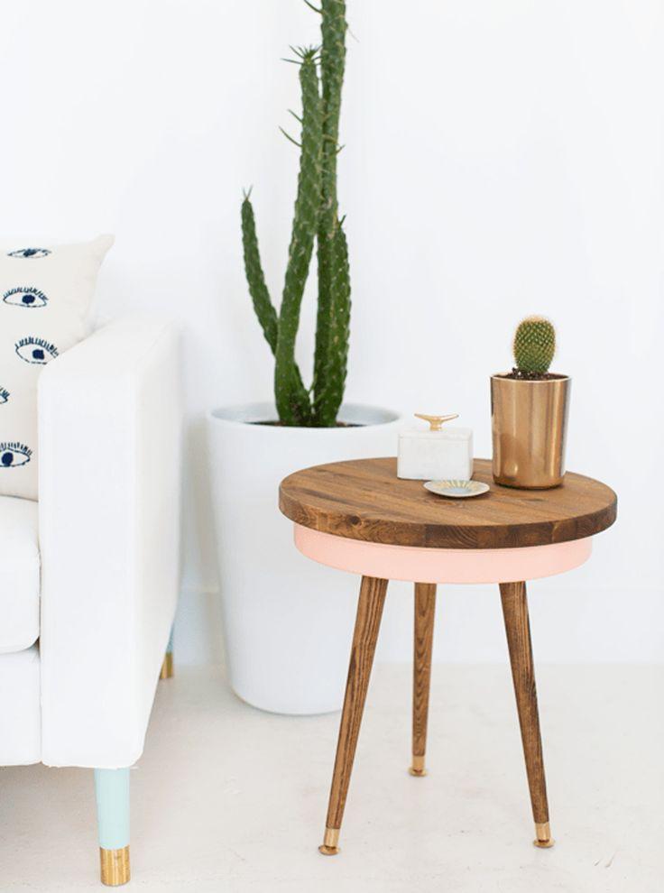 les 25 meilleures id es concernant tables de bout de palettes sur pinterest tableaux en. Black Bedroom Furniture Sets. Home Design Ideas