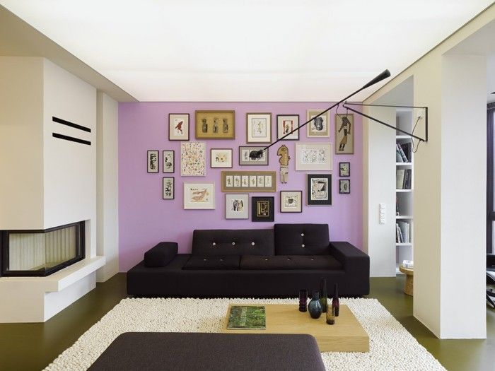 inneneinrichtung grau lila wohnzimmer - wohndesign - Wohnzimmer Grau Lila