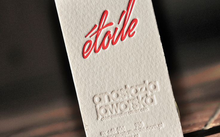 Another printed business card was created using blind print combined with red paint. We realize that not everyone will noteice the content as 100% readable but it was a very conscious choice of a client. We are always happy to advise but sometimes the client really has its own vision and knows what he wants the best.