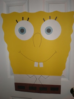 pin the tie on spongebob