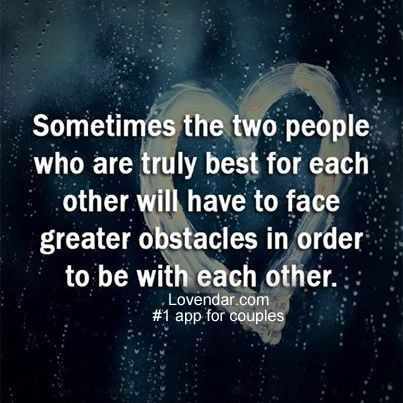 Love is an obstacle course