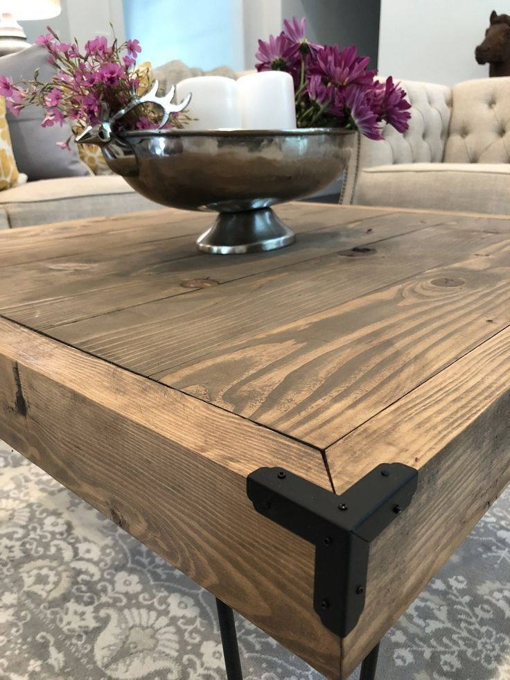 Diy 50 Hairpin Coffee Table By Shanty2chic Coffee Table Wood Hairpin Leg Coffee Table Hairpin Coffee Table